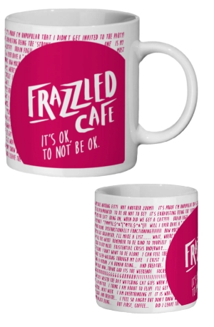 Frazzled Rubine Pink Mug