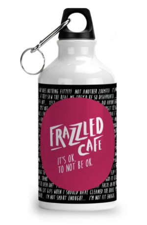 Frazzled Rubine Black Water Bottle
