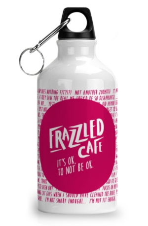 Frazzled Rubine White Water Bottle